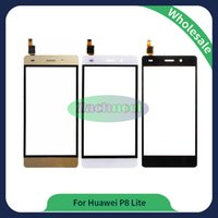 Wholesale Hot Touch Digitizer - For Huawei Ascend P8 Lite Touch Screen Glass Lens Panel Digitizer New Hot Replacement Parts Black White Free Shipping