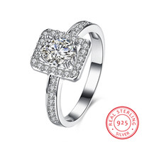 Wholesale Silver 926 - Natural Size 6-21 China-Miao name engraving tension setting CZ 926 sterling silver jewelry anniversary with wide stone adjustable ring Hallo