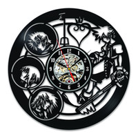 Wholesale Art Clock - Kingdom Hearts Characters Unique Vintage Vinyl Wall Clock Decorate Your Home With Decor Vintage Art-Best Gift For Friend, Man And Boy Good