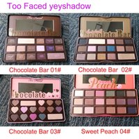 Wholesale Eyeshadow Palette Style - Too Faced Makeup Chocolate Bar(3 style)Eyeshadow palette sweet peach 16 Color Eye Shadow palette DHL free