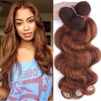 extension de cheveux humains de 27 couleurs achat en gros de-Malaisiens Indiens Brésiliens Vierge Cheveux Bundles Péruvienne Vague de Corps Cheveux Weaves Couleur Naturelle # 1 # 2 # 4 # 27 # 99j # 33 # 30 Extensions de Cheveux Humains