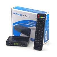 Wholesale Vu Satellite - Stock Freesat with USB wifi DVB-S2 satellite TV receiver , support power vu,newcamd,Youtube free video DVB-S2 1080p full hd freesat v7