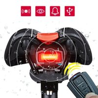 Wholesale Bike Bicycle Lock Alarm - 3 in 1 Bicycle Wireless Rear Light Cycling Remote Control Alarm Lock Fixed Position Mountain Bike Smart Bell COB Tailight USB Charging
