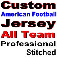 Wholesale White Dress Black Stitching - Custom American Football Jerseys in Any Team Name Number are Stitched Polyester Men Elite Red White Black Blue Skating Dresses