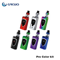 Wholesale E Cig Big Tank - Smok ProColor starter kits TFV8 Baby Big sub ohm Tank and 225w Pro Color Mod Original e cig ecig Vape Pens