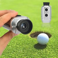 Wholesale golf distance finders - Wholesale- Digital 7x Pocket Golf Range Finder Electronic Scope Distance Golfscope + Strap