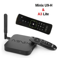 Wholesale android tv box neo online - Minix NEO U9H Android TV Box Amlogic S912 H Octa Core GB GB Smart Media Player Bluetooth Dual Band AC Wifi H K Dolby DTS A3 Lite