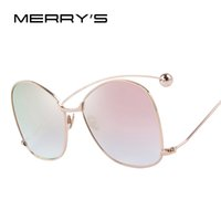 Wholesale Women S Exaggerated - MERRY'S Women Personality Exaggerated Sunglasses Clear Lens Women Glasses UV400 Protection S'8066 q0413