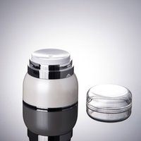 Wholesale Wholesale Airless Jars - 30g 50g cream Airless Pump Jar - Sterile Travel Refillable Cosmetic Container - Lotionsand and creams Airless Vacuum Dispenser