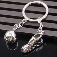 Wholesale World Wholesale Shoes - World Cup Soccer Team Key Ring Sports Shoes Key Ring Men's Best Love Pendant Ball Key Rings Fashion Accessories Free Shipping