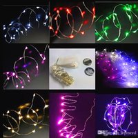 Wholesale Craft Bottles Wholesale - christmas lights 2m20-LED Copper Wire String Light with Bottle Stopper for Glass Craft Bottle Fairy Valentines Wedding Decoration Lamp Party
