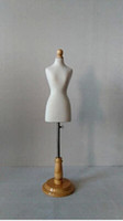 Wholesale Flexible Mannequins - Freeshipping! 1 3Female dress form Mannequin,flexible for women sewing,upper body1:3scale Jersey bust with button wooden adjustable M00021