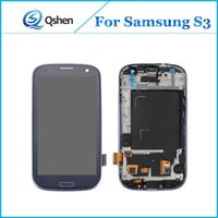 Wholesale Galaxy S3 Screen Display - For Samsung Galaxy S3 i9300 Display Screen LCD Assembly Touch Digitizer with Frame Complete High Quality