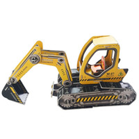 Wholesale Excavator Children Toy - MICHLEY Free Shipping Children Boys 3D Puzzle Jigsaw Foam Excavator Model for Kids Education Toys 1T0160-paomowaji