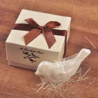 Wholesale Baby Shower Favors Bird - Handmade mini Love Bird Dove Scented Soap for wedding favors wedding souvenirs baby shower party favor gift