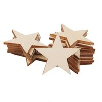 Wholesale Wholesale Wooden Shapes For Crafting - Wholesale- SUNTEK 3mm Thick Star Shape Wooden Embellishments for DIY Crafts 25pcs 50mm Free Shipping
