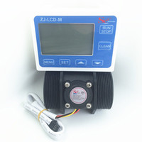 Wholesale Digital Counter Sensor - Wholesale- Digital LCD flow device 10-200L min YF-DN50 G2 inch Water Flow meter Sensor flowmeter caudalimetr counter indicator water heater