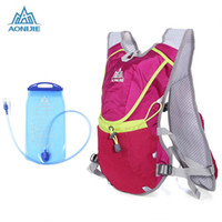 Wholesale Portable Water Backpack - Wholesale- AONIJIE Portable 8L Unisex Running Backpack with 1.5L Water Bag for Riding Hiking
