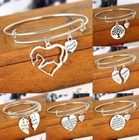 Wholesale Porcelain Family - High quality Hot letter engraved family series Adjustable bracelet Christmas gifts FB172 mix order 20 pieces a lot Charm Bracelets