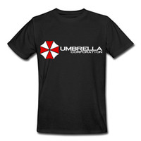Wholesale Umbrella Sleeves - Cheap Tee Shirts Short Umbrella Resident Evil Biohazard Corporation Symbol Men Short O-Neck T Shirts