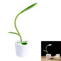 Wholesale Touch Dimmer China - Dimmer USB LED Desk Lamp, 3-level Touch Sensitive Control, Flexible Gooseneck, Portable Rechargeable Kids Book Light, Plant Pencil Holder