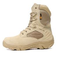 botas yürüyüş toptan satış-Yaz erkek Açık Çöl Kamuflaj Taktik Çizmeler Erkekler Açık Savaş Ordu Çizmeler Botas Sapatos Masculino Yürüyüş Ayakkabıları