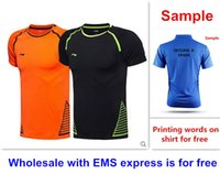 Wholesale express clothing - Wholesale with EMS express, HOT badminton shirt clothes short sleeve table tennis T sport shirt clothes 51