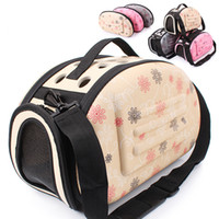 Wholesale Comfortable Folding - Dog Carrier Puppy Portable Travel Tote Pet bag EVA bags Shoulder Breathable Outdoor Backpack Folding Comfortable Zipper Pet House