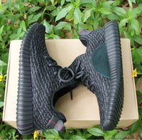 2017 Kanye West Boost 350 Pirate Black Running Shoes Mujer Hombres 350 boost Zapatillas Deportivas Entrenadores Deportes Wth Box Eur36-46