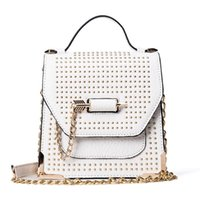Wholesale Oblique Satchel Bags - Steampunk rivet crossbody bag chain mini bag female personality chain shoulder crossbody bags oblique arrow shoulder bags designer handbags