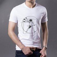 Wholesale Vitruvian Man - Guitar Player Vitruvian Man Discount t-shirts O-Neck Popular men's short sleeve shirts
