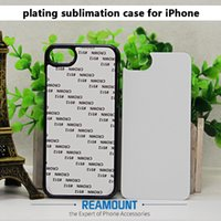Wholesale Blank Iphone Insert - 100pcs Blank photo printing case sublimation cover for samsung iphone 5s 6+ 7 7+ with sublimation metal insert free dhl shipping