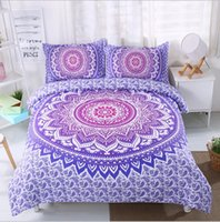 Wholesale Duvet Cover Brush - Bohemia Bedding sets Bedlinen Duvet Cover with Pillowcase Brushed 3D prints 3pcs set 20 colors Twin Full Queen King sizes 2017