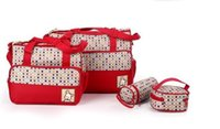 Wholesale mummy set online - Fashion Mummy Bag For Baby Nappy Bags Colors Set
