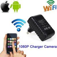 drahtloses ladegerät großhandel-Original Wireless WiFi Ladegerät P2P IP Kamera HD 1080 P Ladegerät pinhole Kamera AC Adapter stecker Video Recorder Home Surveillance Camcorder