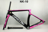 Wholesale Time Carbon Fibre Bike Frames - 2016 new Cipollini NK1K T1000 1k or 3K racing full carbon road frame bicycle complete bike frameset sell S3 S5 R5 C60 795 giant merida time