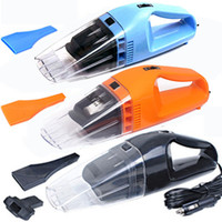 Wholesale Suction Dust Collector Cleaner - Wholesale-12V 120W Portable Car Vacuum Cleaner Handheld Wet Dry Aspirador Dual-use Super Suction Dust Cleaner Catcher Collector 5m Cable