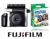 Wholesale Fuji Media - Wholesale- Fujifilm Instax WIDE 300 Instant Camera + 20 Sheets Fujifilm Fuji Instax Wide White Edge Film for Wide Film Camera 100 200 300