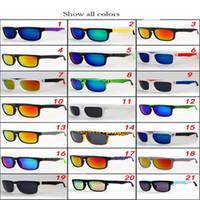 block al por mayor-Diseñador de la marca Spied Ken Block Helm Gafas de sol Hombre Mujer Unisex Deportes al aire libre Sunglass Gafas de marco completo 21 colores