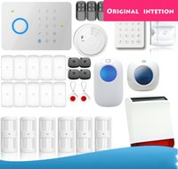Wholesale Security Alarm System G5 - Etiger 578kit 315MHZ Chuango G5 Touch Keypad Control GSM SMS Wireless Home Security Burglar Alarm System RFID Card Disarm