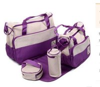 Wholesale Diaper Bag Change - Wholesale- 3 colors 2016 Functional Maternidade Bag Baby Diaper Bags Nappy Changing Bags For Mummy With Big Capacity