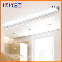 Shadeless Modern Wall Mouted 9W 14W 16W 24W 30W LED Mirror Light AC 90-265V Modern Cosmetic Acrylic Wall lamp Bathroom Lighting Waterproof Fog-proof For Bathroom Bedroom