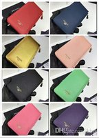 Wholesale Special Coins - High Quality special promotions brand Handbags Really leather purse multi-color long paragraph zipper fashion wallet Designer card bag