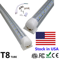 ingrosso congelatore principale-25pcs 4ft 5ft 6ft 8ft LED tubo a forma di V tubi integrati LED 4 5 6 8 piedi più fresco congelatore porta illuminazione a LED