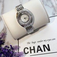 ingrosso vigilanza del vestito dell'acciaio inossidabile del quarzo-orologi di lusso di alta qualità con il diamante per le donne orologio femminile signore quarzo vigilanza del braccialetto vestito in acciaio inox casuale orologio da polso