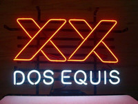 Wholesale Dos Equis Neon - 17''X14'' Dos Equis Beer Neon Sign Display Beer Bar Pub Real Neon Glass Light