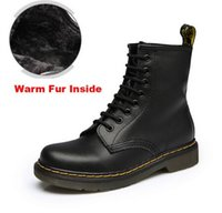 Wholesale Cowboy Boots Sizes - SZSGCN-Big size 35-46!2018 Good Quality Dr Genuine Leather shoes men Boots High Top Martin Motorcycle Autumn Winter shoes Lover snow Boots