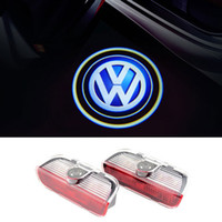 luces de advertencia de la puerta al por mayor-Para VW Golf 5 6 7 Tiguan Touareg Jetta MK5 MK6 CC Passat B6 B7 Sharan Scirocco EOS coche LED Puerta de advertencia Logo Logo proyector