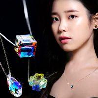 Wholesale aurora online – custom Fashion Sterling Silver Jewelry Austria Crystal Necklace Designer Creative Design Beautiful Gift For Christmas Bright Aurora Sugar