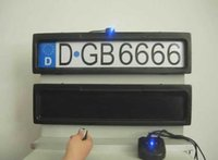Wholesale plastic curtain remote control car license plate frame cover hide car number plate frame europen size